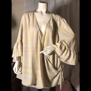 Melissa McCarthy beautiful faux wrap style blouse